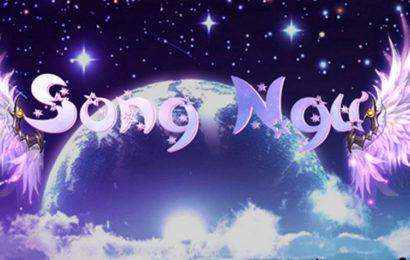 Bộ ảnh bìa facebook 12 cung hoàng đạo hiệu ứng chữ galaxy đôi cánh thiên thần
