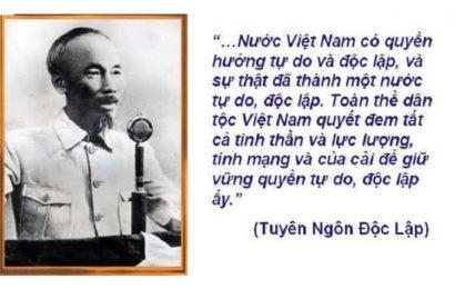 Bài soạn văn Tuyên ngôn độc lập của Hồ Chí Minh ở ngữ văn lớp 12