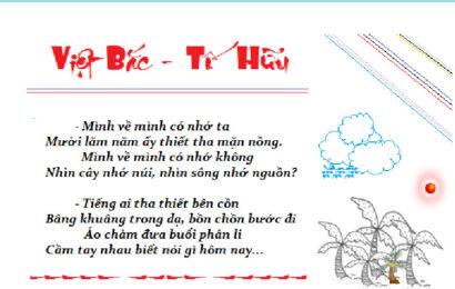 Bài soạn Việt Bắc của Tố Hữu phần tác giả ở ngữ văn lớp 12