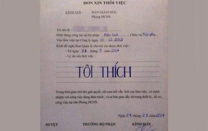 Bộ tuyển tập những lá đơn xin nghỉ việc chất nhất Việt Nam