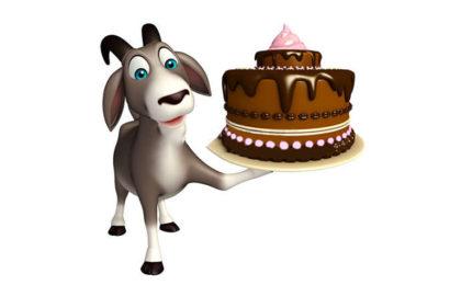 Hình ảnh chiếc bánh kem chúc mừng sinh nhật người tuổi mùi (dê)