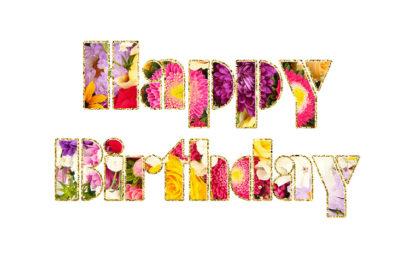 Hình ảnh động hoa chúc mừng sinh nhật – Happy Birthday lung linh