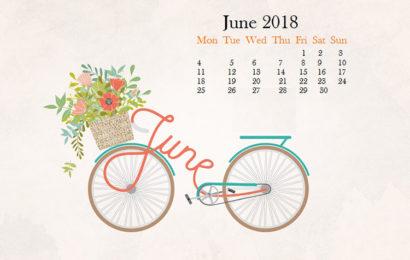 Bộ hình nền kèm lịch chào tháng 6 năm 2018 – hello june đẹp lung linh