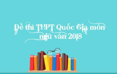 Xem bài gợi ý giải đề thi THPT Quốc Gia môn Ngữ Văn năm 2018