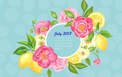 Bộ hình nền lịch chào tháng 7 năm 2018 – Wallpaper july 2018 đẹp