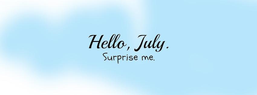Những ảnh bìa facebook chào tháng 7 - Hello July số 14