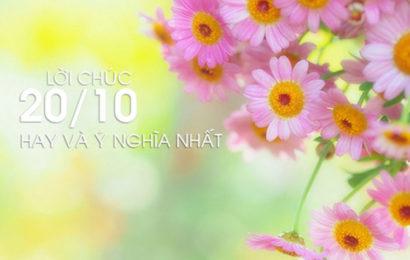 Ý tưởng quà tặng ý nghĩa ngày phụ nữ Việt Nam 20/10 bằng lời chúc hay