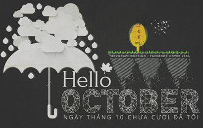 Những cover, ảnh bìa facebook chào tháng 10 – Hello October lung linh