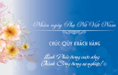Những bức thiệp kèm lời chúc mừng ngày phụ nữ Việt Nam ý nghĩa và đẹp