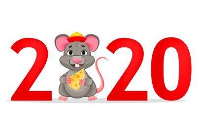 Những ảnh bìa chúc mừng năm mới, happy new year 2020 canh tý