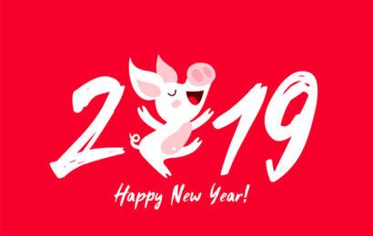 Những ảnh bìa chúc mừng năm mới, happy new year 2019 kỷ hợi đẹp