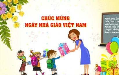 Hình ảnh kèm lời chúc mừng ngày Nhà giáo Việt Nam 20/11 đẹp và độc đáo