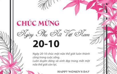 20 bức thiệp chúc mừng ngày phụ nữ Việt Nam với những lời chúc cá tính và độc đáo