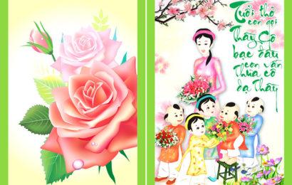 Những bức thiệp kèm lời chúc mừng ngày nhà giáo Việt Nam 20/11 hay và ý nghĩa