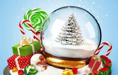 Những hình nền quả cầu tuyết chúc mừng giáng sinh đẹp lung linh