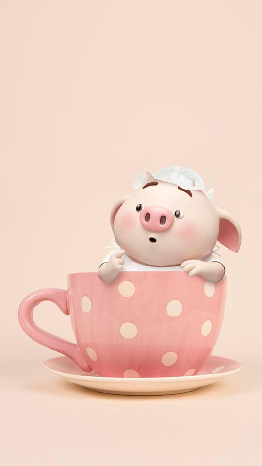 Hình nền chú lợn ủn ỉn hài hước vui nhộn cho điện thoại Iphone đẹp số 10