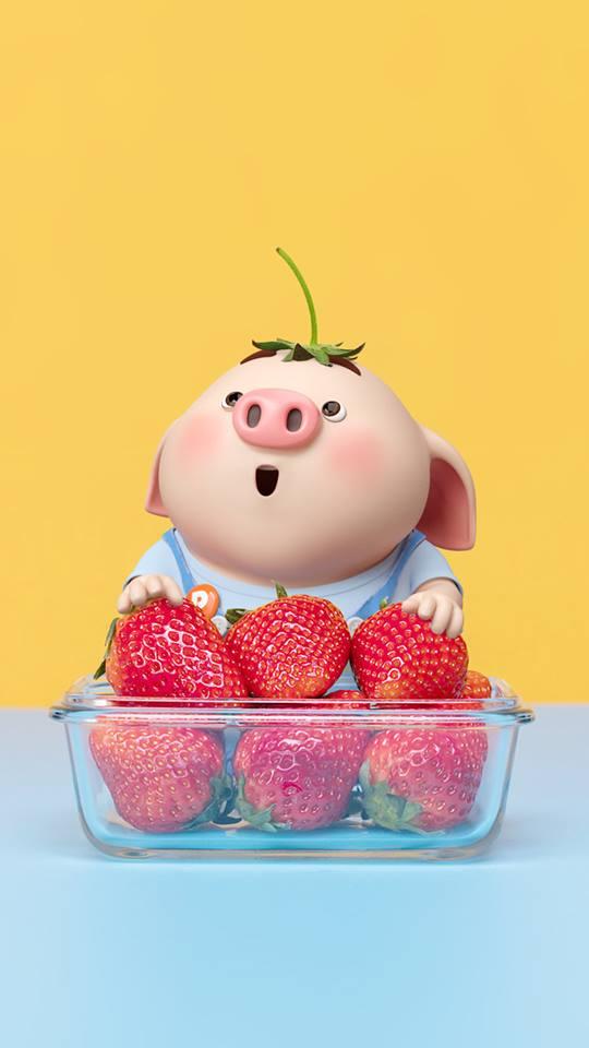 Hình nền chú lợn con ủn ỉn độc đáo và dễ thương cho smartphone Android số 34