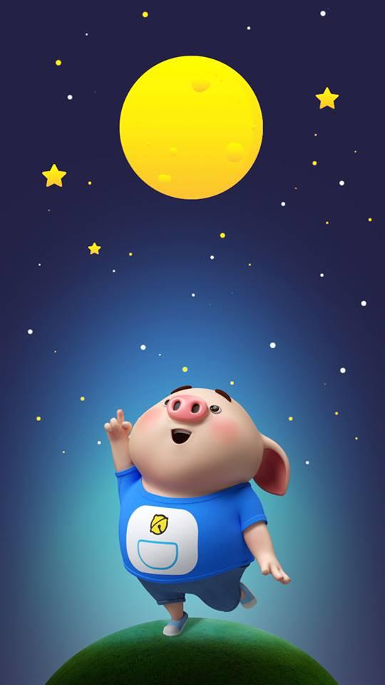 Hình nền chú lợn ủn ỉn hài hước vui nhộn cho điện thoại Iphone đẹp số 13