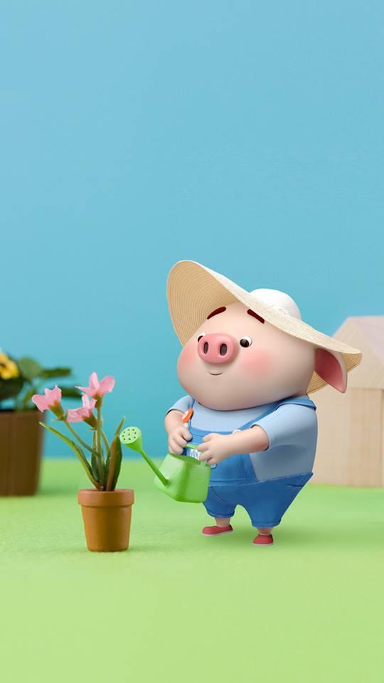 Hình nền chú lợn ủn ỉn hài hước vui nhộn cho điện thoại Iphone đẹp số 18