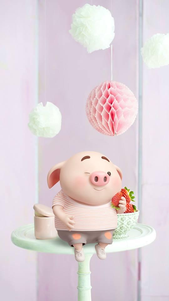 Hình nền chú lợn ủn ỉn hài hước vui nhộn cho điện thoại Iphone đẹp số 20