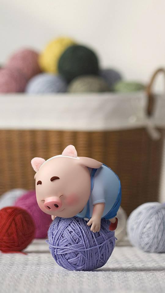 Hình nền chú lợn ủn ỉn hài hước vui nhộn cho điện thoại Iphone đẹp số 22