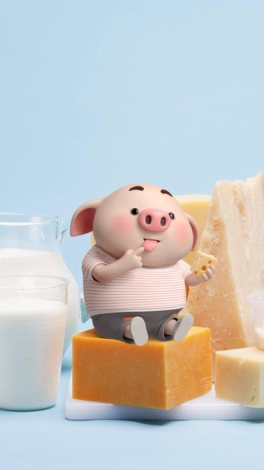 Hình nền chú lợn ủn ỉn hài hước vui nhộn cho điện thoại Iphone đẹp số 29
