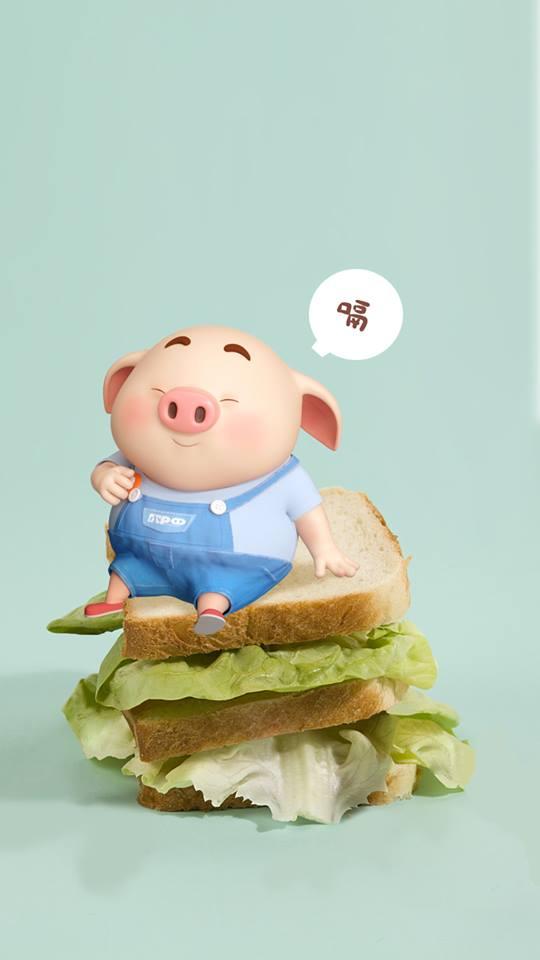 Hình nền chú lợn ủn ỉn hài hước vui nhộn cho điện thoại Iphone đẹp số 30