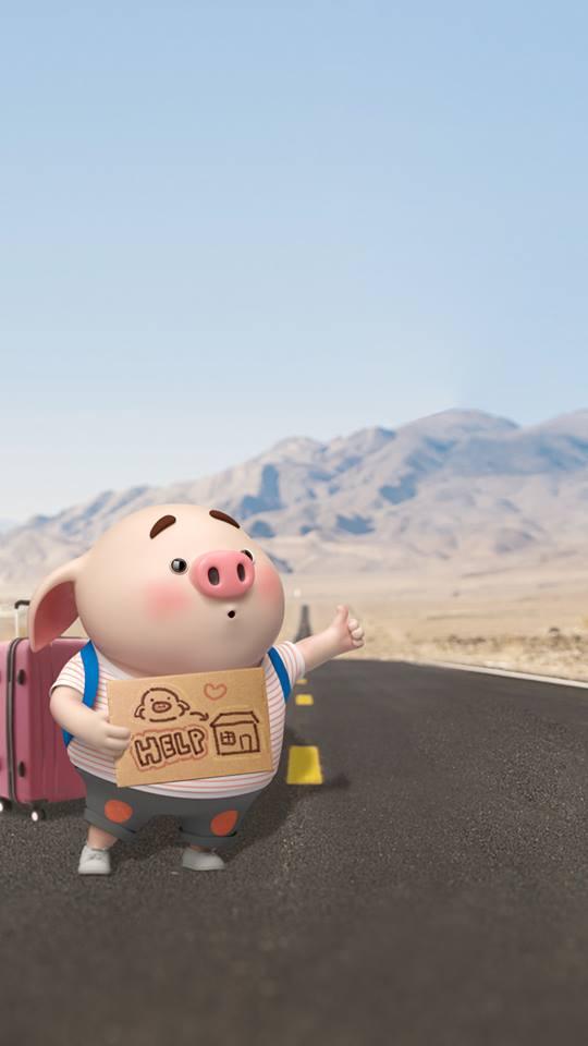 Hình nền chú lợn ủn ỉn hài hước vui nhộn cho điện thoại Iphone đẹp số 31