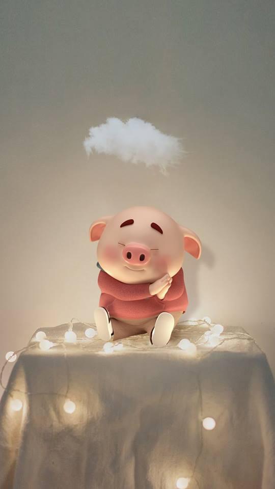 Hình nền chú lợn ủn ỉn hài hước vui nhộn cho điện thoại Iphone đẹp số 32