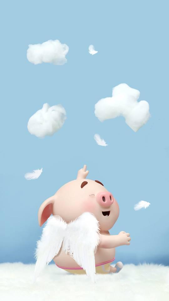 Hình nền chú lợn ủn ỉn hài hước vui nhộn cho điện thoại Iphone đẹp số 4