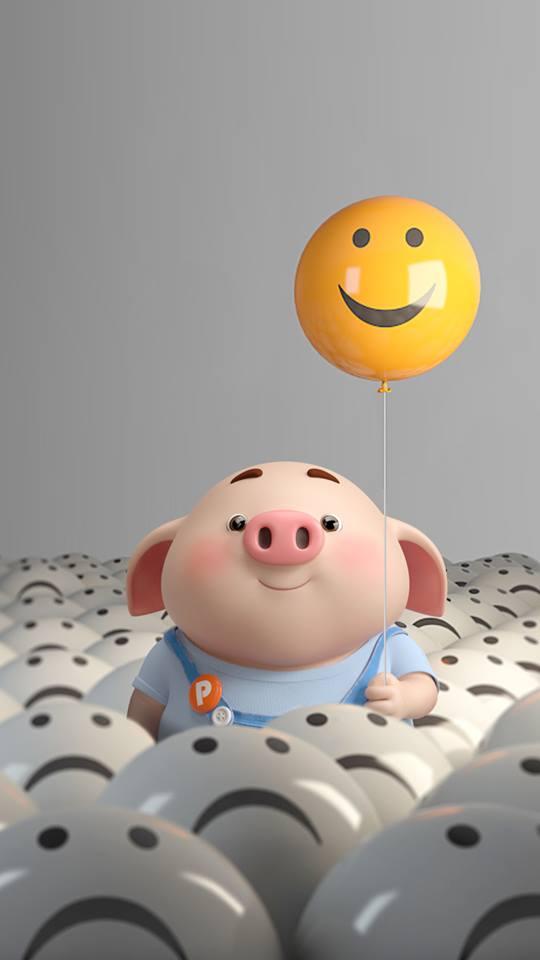 Hình nền chú lợn ủn ỉn hài hước vui nhộn cho điện thoại Iphone đẹp số 5