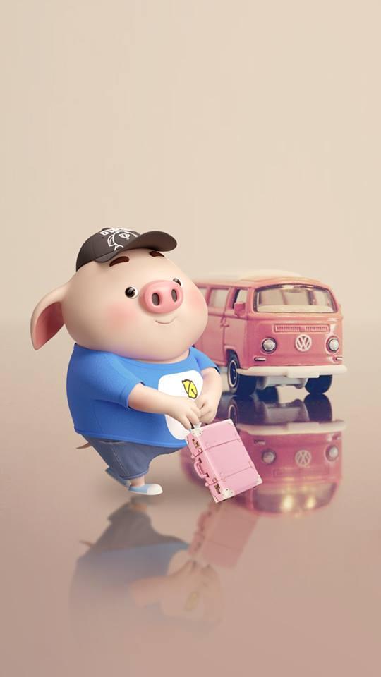 Hình nền chú lợn ủn ỉn hài hước vui nhộn cho điện thoại Iphone đẹp số 6