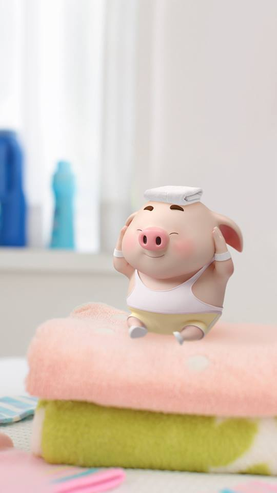 Hình nền hoạt hình lợn con ủn ỉn tâm trạng cho điện thoại đẹp số 31