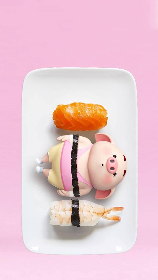 Hình nền hoạt hình lợn con ủn ỉn tâm trạng cho điện thoại đẹp số 32