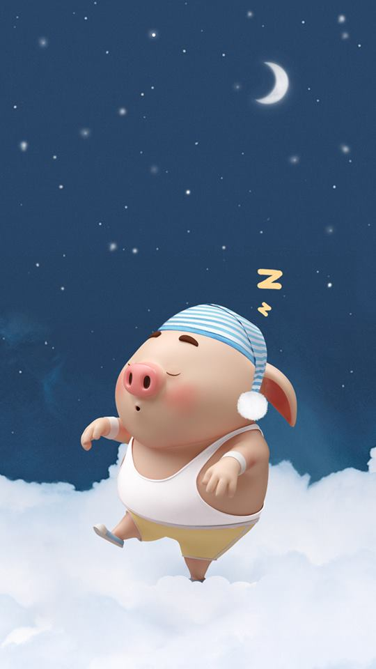 Hình nền chú lợn con ủn ỉn độc đáo và dễ thương cho smartphone Android số 5