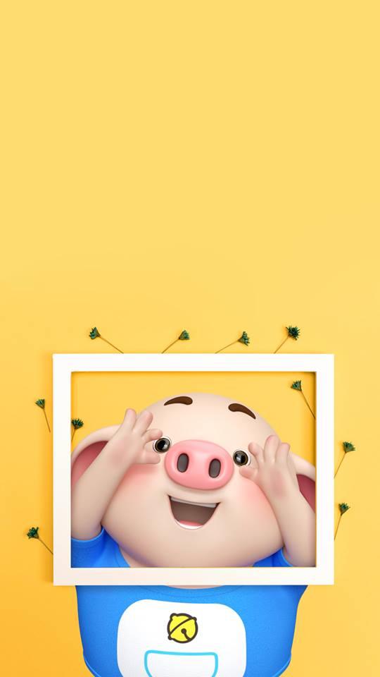 Hình nền chú lợn con ủn ỉn độc đáo và dễ thương cho smartphone Android số 7