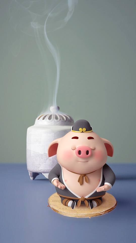 Hình nền chú lợn con ủn ỉn độc đáo và dễ thương cho smartphone Android số 10