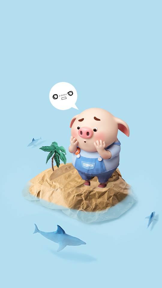 Hình nền chú lợn con ủn ỉn độc đáo và dễ thương cho smartphone Android số 20