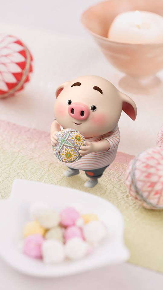 Hình nền chú lợn con ủn ỉn độc đáo và dễ thương cho smartphone Android số 26