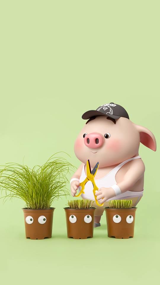Hình nền chú lợn con ủn ỉn độc đáo và dễ thương cho smartphone Android số 27