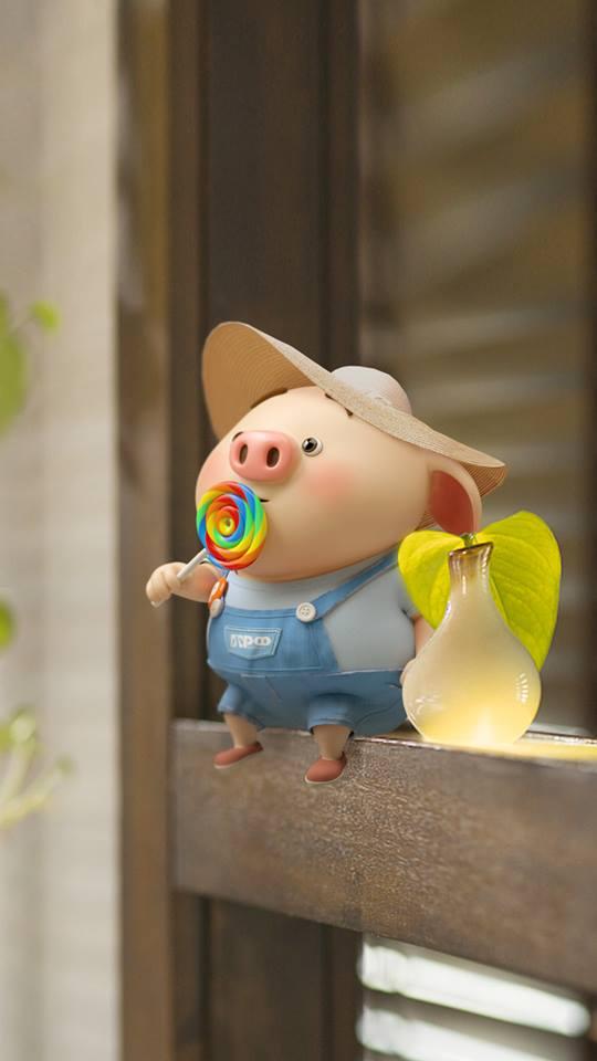 Hình nền chú lợn con ủn ỉn độc đáo và dễ thương cho smartphone Android số 31