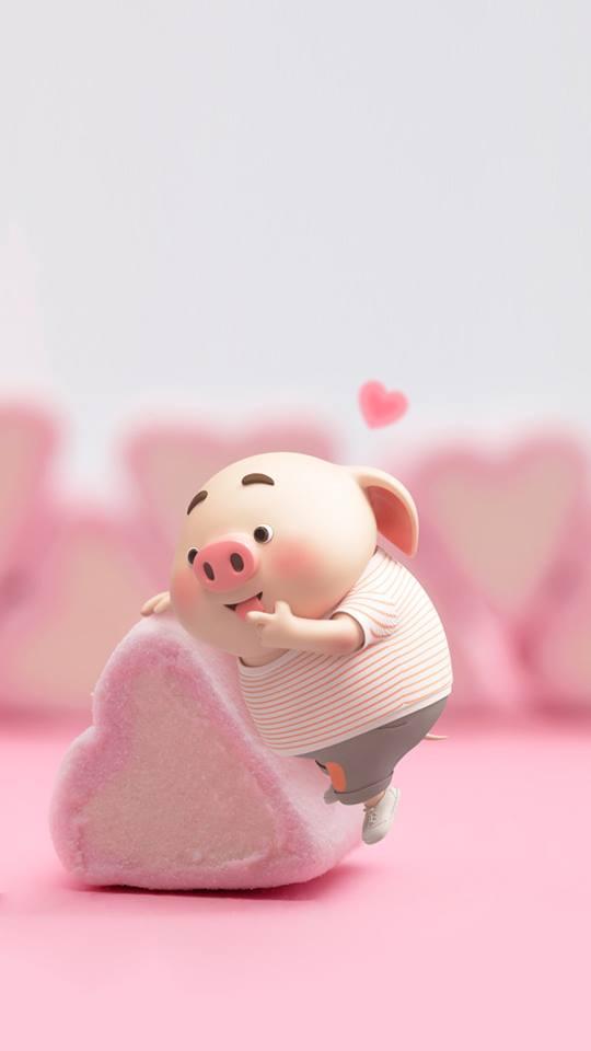 Hình nền chú lợn con ủn ỉn độc đáo và dễ thương cho smartphone Android số 32