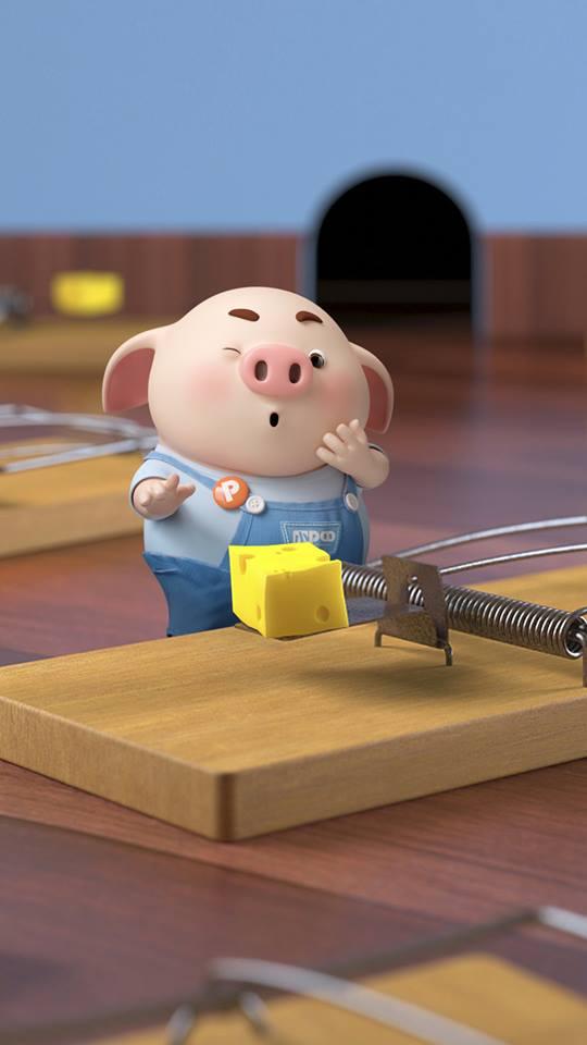 Hình nền con lợn hồng ủn ỉn tinh nghịch cho điện thoại full hd số 16