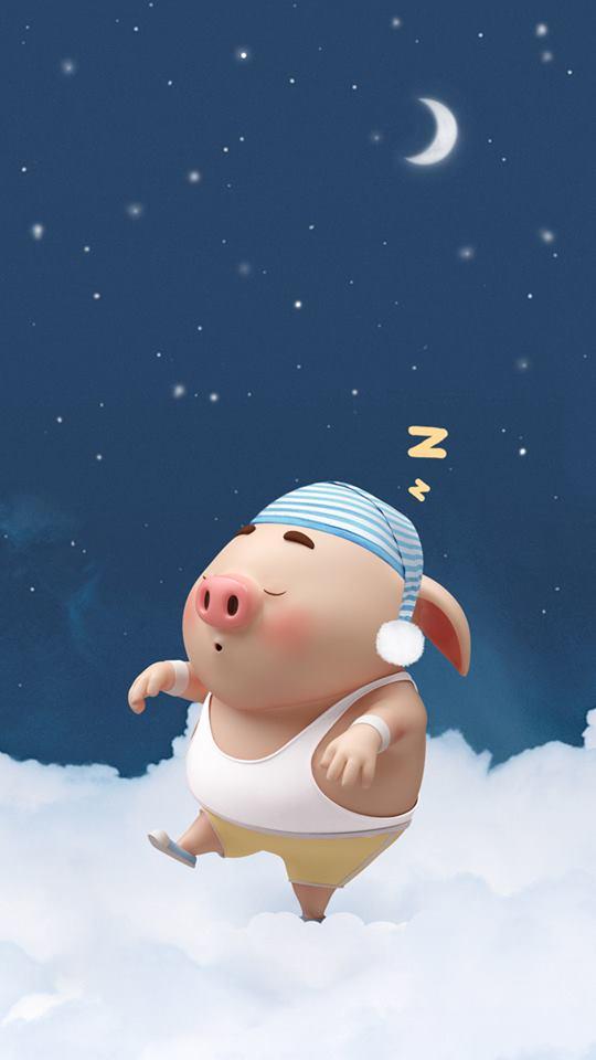 Hình nền con lợn hồng ủn ỉn tinh nghịch cho điện thoại full hd số 23