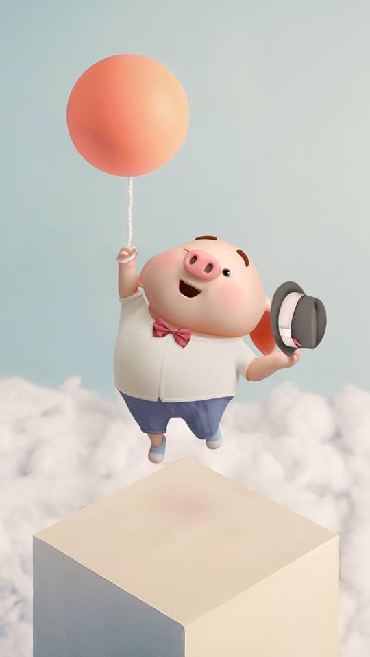 Hình nền con lợn hồng ủn ỉn tinh nghịch cho điện thoại full hd số 28