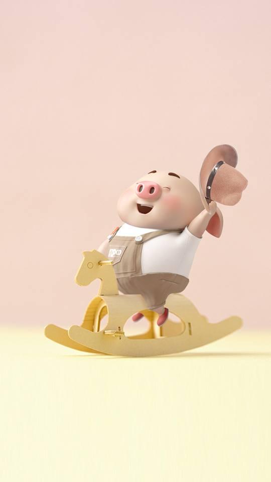 Hình nền con lợn hồng ủn ỉn tinh nghịch cho điện thoại full hd số 2