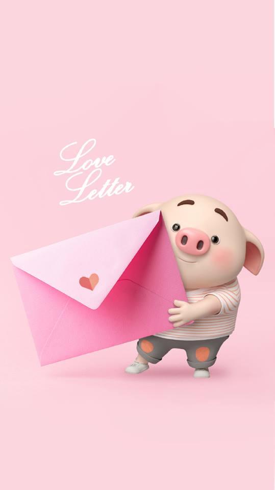 Hình nền chú lợn hồng ủn ỉn trong ngày lễ tình yêu Valentine 14/2 số 1