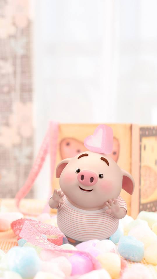 Hình nền chú lợn hồng ủn ỉn trong ngày lễ tình yêu Valentine 14/2 số 9