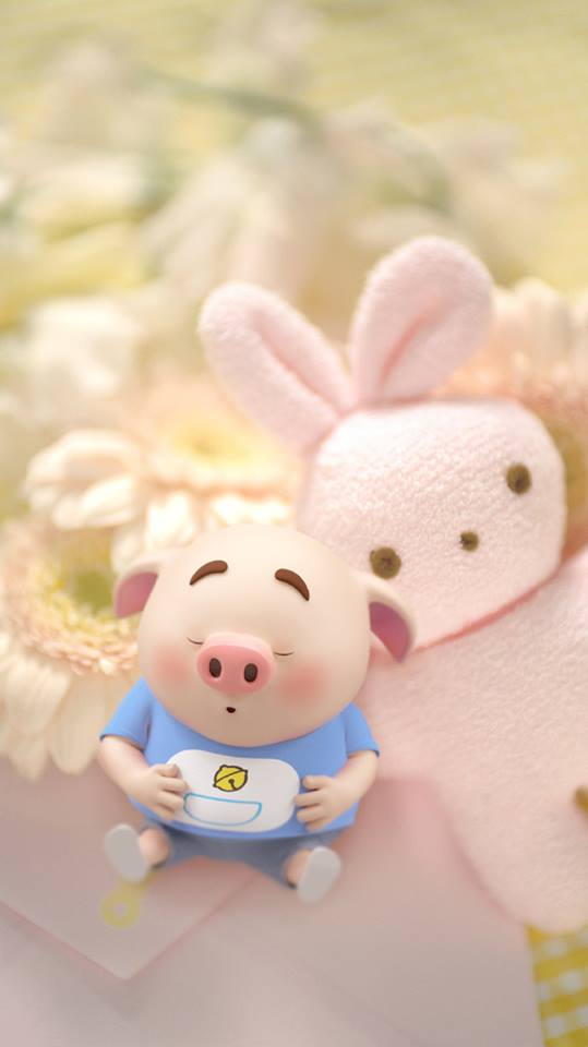 Hình nền chú lợn hồng ủn ỉn trong ngày lễ tình yêu Valentine 14/2 số 12