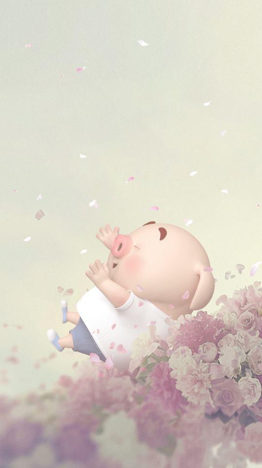 Hình nền chú lợn hồng ủn ỉn trong ngày lễ tình yêu Valentine 14/2 số 10